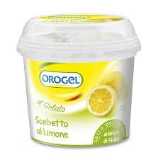 Sorbetto orogel limone 400 gr.
