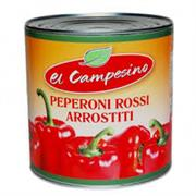 Peperoni arrostiti lattina 390 gr.