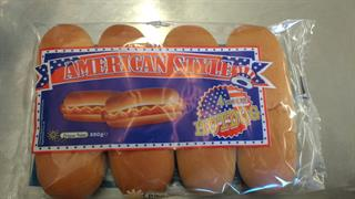 4 Panini american style hot dog  250 gr.