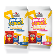 Break to school preziosi boy and girl succo e patatine